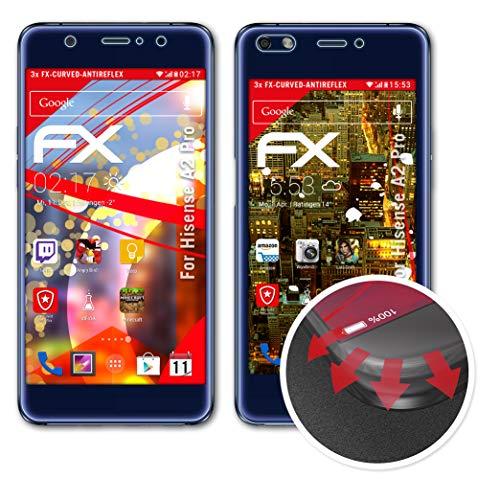 atFolix Schutzfolie passend für Hisense A2 Pro Folie, entspiegelnde & Flexible FX Bildschirmschutzfolie (3er Set)