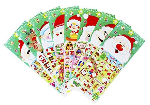 Natale adesivi 8 fogli con pupazzo di neve e renna bambini babbo natale adesivi per scrapbooking giocattoli i regali presente