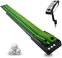 Golfoy Putting Training Golf Package (Includes - Golfoy Deluxe Putting Mat X 1, PGM Select Edition Blade Putter X 1 & Assorted Golf Balls - 3 Nos.)