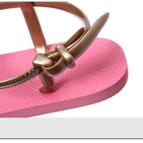 Amlaiworld Donna Sandali,Spiaggia di semplici scarpe estate scarpe sandali Flat caldo rosa