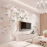 NNKKBH - Carta da Parati per la Camera da Letto, Stile Moderno, Creativo, Colore: Rosa, 420cm×250cm