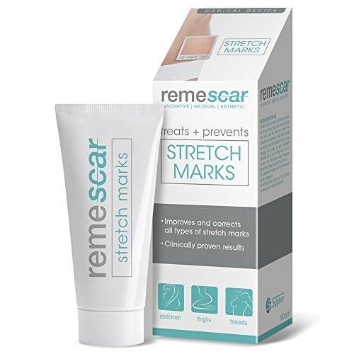 Remescar Stretch Marks Narbencreme – klinisch erprobte Narbenpflege zur Vorbeugung & Behandlung bei Dehnungsstreifen & Schwangerschaftsstreifen an Bauch, Brust, Oberschenkeln & Gesäß – 100ml