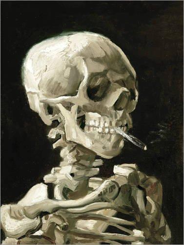 Póster 30 x 40 cm: Skeleton with a burning cigarette de Vincent...