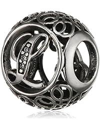"Pandora Damen-Charm Vintage ""L"" 925 Zirkonia weiß-791856CZ"