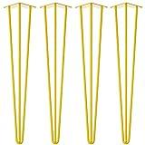4 x Hairpin Legs / Tischbeine - Gelb - alle Größen