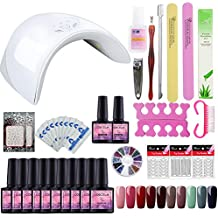 Saint-Acior 36W UV/LED Lámpara Esmaltes de Uñas Manicura y Pedicura Kit Uñas