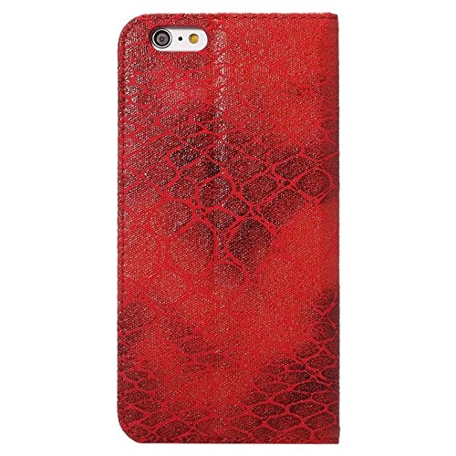 wkae Schutzhülle Case & Cover Stein Textur magnetische horizontale Flip PU Leder Case mit Halter & Cardslot für iPhone 6& 6S Rot