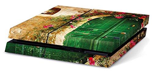 altes Haus mit grüner Tür Hochwertiger Sony PS4 Playstation-Aufkleber/Sticker aus Vinyl -