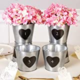 SET OF 8 - Antique Zinc Chalkboard Personalised Wedding Table Centrepiece Centre Piece Display Vase Pot H13 x D16cm - Fantastic Vintage Style Wedding Decoration! Only £3.75 each!!