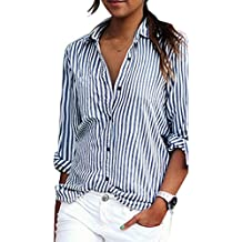super popolare c4a53 5050f Amazon.it: camicia a righe donna - Blu