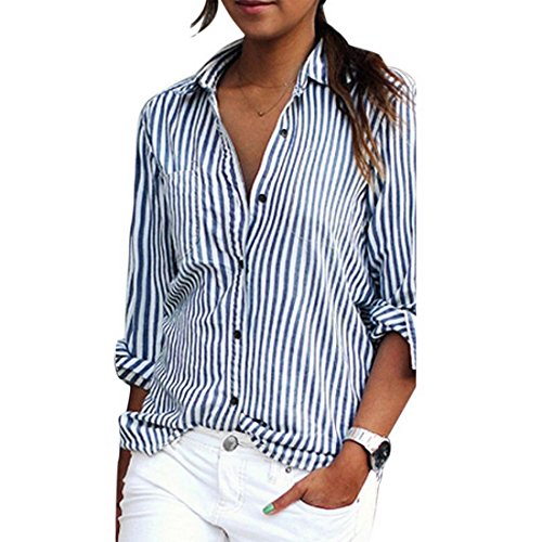 Bonboho - camicia - a righe - classico - donna blue+white medium