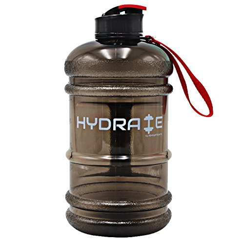 513ZCCuPemL. SS500  - HYDRATE 2.2 Litre Water Bottle - Now With Easy Drink Cap - Durable & Extra Strong - BPA Free - Ideal for: Gym, Dieting, Bodybuilding, Outdoor Sports, Hiking & Office