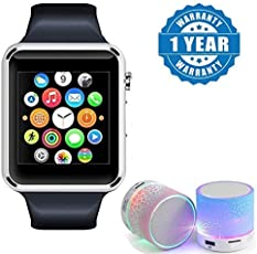 captcha A1 Bluetooth Smartwatch Phone with Camera & Sim Card, Wireless LED, Speaker USB Plug & Play for All Android, iPhone Devices (Colour May Vary)