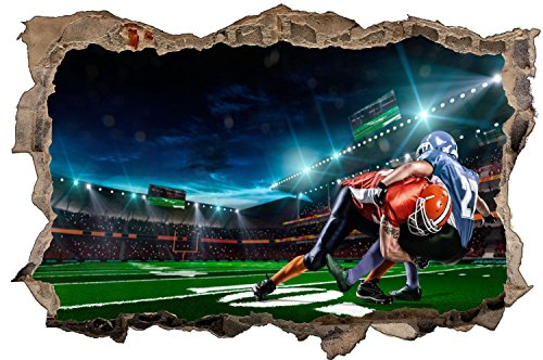 Football Zweikampf Sport Wandtattoo Wandsticker Wandaufkleber D0605 Größe 60 cm x 90 cm