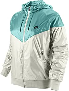 nike veste the windrunner pour femme multicolore blanc turquoise noir 34 sports et. Black Bedroom Furniture Sets. Home Design Ideas
