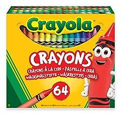 Idea Regalo - Crayola-64 Pastelli a Cera, per Scuola e Tempo Libero, Multicolore, 52-6448