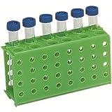 Heathrow Scientific HD29022C Lot de 5 racks en polypropylène Vert pour 4 microtubes, Longueur 174 mm x Largeur 95 mm x Hauteur 52 mm