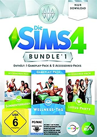 Die Sims 4 - Bundle Pack 1: Sonnenterrassen, Luxus-Party, Wellness-Tag [PC/Mac Code - Origin]