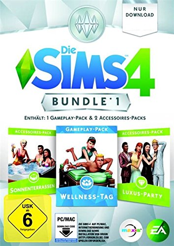 Die Sims 4 – Bundle Pack 1: Sonnenterrassen, Luxus-Party, Wellness-Tag [PC/Mac Code – Origin]