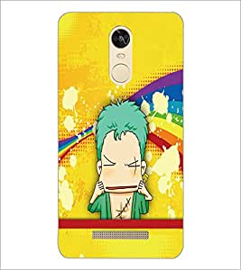 PrintDhaba Cartoon D-5794 Back Case Cover for XIAOMI REDMI NOTE 3 PRO (Multi-Coloured)