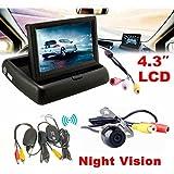 Yukong Backup Camera ,4.3 Auto-hintere Ansicht-Monitor-drahtloser Auto-Unterstützungskamera-Parken-Systems-Installationssatz - Best Reviews Guide