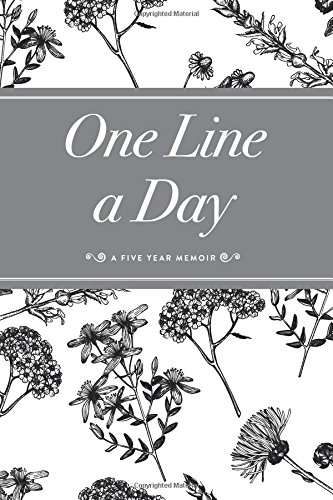 one-line-a-day-journal-a-five-year-memoir-6x9-lined-journal-bw-floral