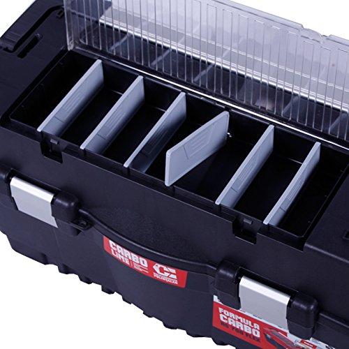 Werkzeugkoffer 60cm Werkzeugkasten Sortimentskasten Werkzeugkiste Angelkoffer Kunststoff Angelkiste Anglerkoffer Sortierkasten Fachkasten - 3