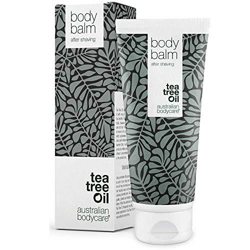 Australian Bodycare Body balm - After shave Balsam für Damen nach der Rasur & Waxing - Die beste Pflege mit Teebaumöl nach der Rasur, um Pickel, eingewachsene Haare und Rötungen zu vermeiden (200 ml) -
