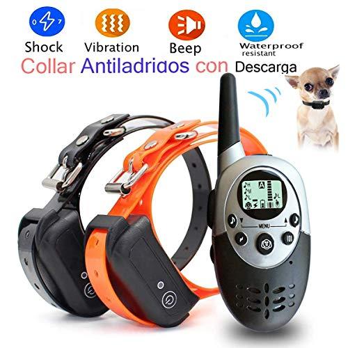 Lingyude Erziehungshalsband, Hunde Erziehungshalsband Wasserdichte Wireless Wiederaufladbare Trainingshalsband