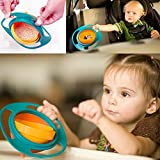 #8: Children Kid Baby Toy Universal 360° Rotate Spill Proof Gyro Bowl Dishes
