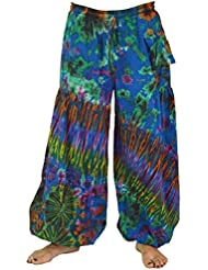 Batik Pluderhose, Haremshose, Hippie Goa Hose / Pluderhosen und Aladinhosen