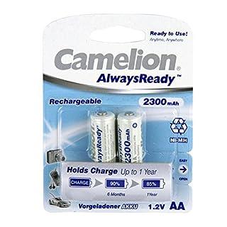 Camelion 17421206 - Always Ready Akku R06 Mignon 2300mAh 2er-Pack Blister