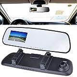 #10: Indian Car Camera Dash cam Vehicle Rearview Mirror Car DVR Video Recorder 720P HD Car G-Sensor Mirror Camera