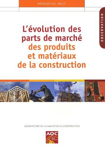 L'évolution des parts de marché des produits et matériaux de construction par Marc Ducourneau, Collectif