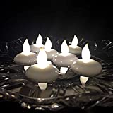 Little ants Floating Candles LED Mood TeaLights Waterproof Flameless tea Candles Floral Battery Decorations Perfect Gifts for Festival Party Wedding,12 pcs (Warm White)