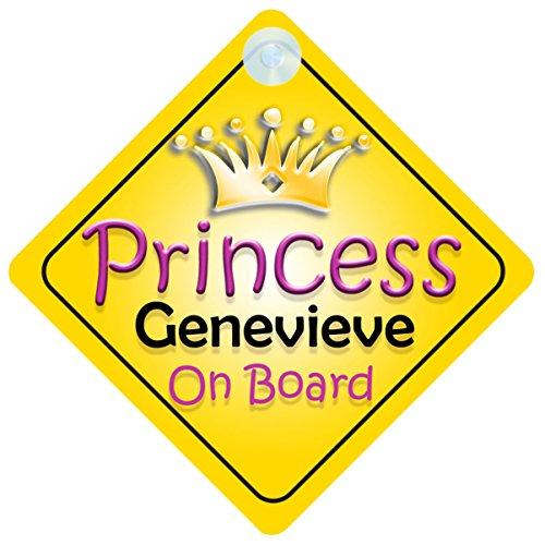 "Genevieve ""Princess On Board"" per bambini e Baby-002 regalo"