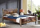 MASSIVMOEBEL24.DE massiv Holz Möbel Vintage Lackiert Bett 120x200 Altholz massiv Möbel Mehrfarbig Massivholz Fable #20