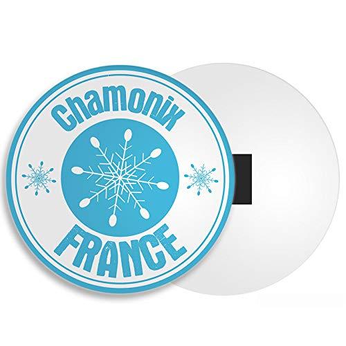 Ziel Vinyl Ltd Chamonix Frankreich Kühlschrankmagnet - Ski Snowboard Travel Holiday Resort Gift # 4500