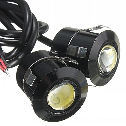 Lot de 2Lampe LED pour moto 12V 9W Eagle Eye