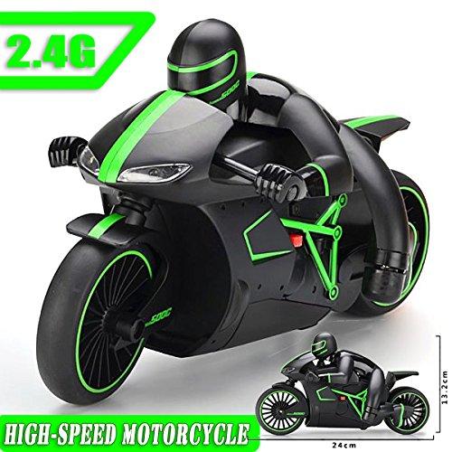 RC Motorrad 24cm, 2.4Ghz, 70m Reichweite High Speed Stunt Show Motorrad Motorbike Motorcycle Noyan®