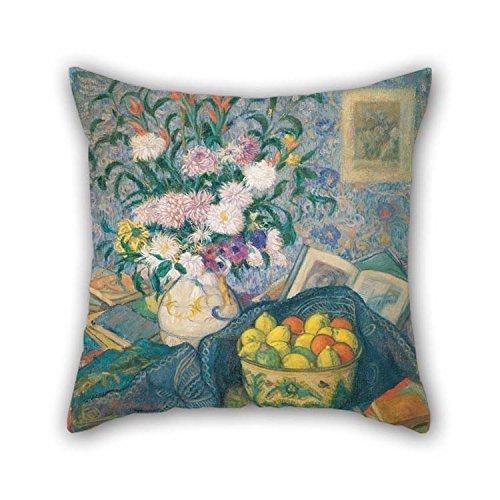 50,8x 50,8cm/50von 50cm Ölgemälde Juan de echevarr? A–Vase mit Bananen, Zitronen und Bücher Kissen zwei Seiten Ornament und Geschenk zu zeichnen Raum Stuhl Kinder Stuhl Jungen Fußboden
