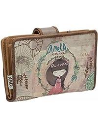 Sany Bags S.L. Anekke Nature Wallet Cartera para Pasaporte, 14 cm, (Multicolour)