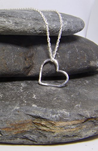 floating-heart-pendant-with-a-lightly-hammered-texture-in-sterling-silver-hand-made-in-cornwall
