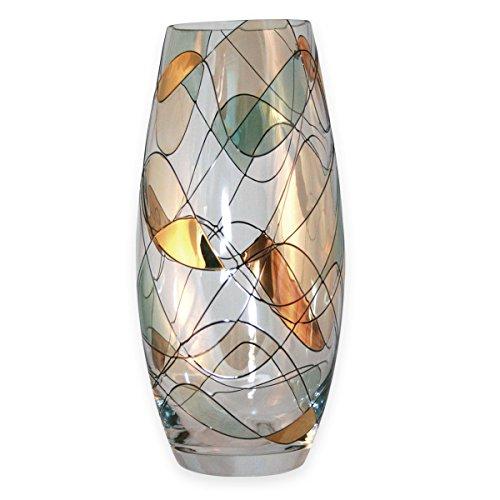 Jarrón Cristal diseño Mosaico Dorado Calidad - Cristal