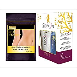 Flat Tummy Skin Tightening Pack with SlimActives Shape Up Combo Oil ,cream & Gel Anti Cellulite for Slimming