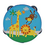 Wood Tambourines Drum Bell Toy Kids Musical Percussion Instrument Toy Forest