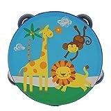 Tambourins En Bois Tambour Cloche Instrument De Musique à Percussion Jouet Enfants - Forêt, 8 mm