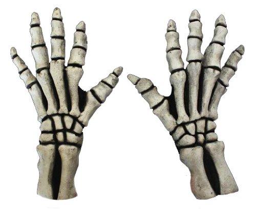 Skelett Handschuhe Kurz Weiss (Kostüme Reaper Grave)