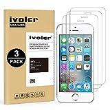 iVoler [3 Pack] Pellicola Vetro Temperato per iPhone SE / 5S / 5 / 5c [Garanzia a Vita], Pellicola Protettiva, Protezione per Schermo