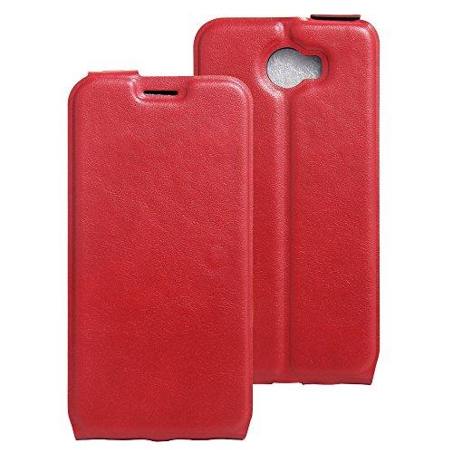 COVO® PU+TPU Kunstleder Brieftasche Hülle für Archos 50 Cobalt mit Stand Funktion (Rot)